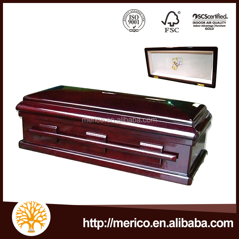BALLON BEAR 27# Infant Casket US Style Wood coffin Beds