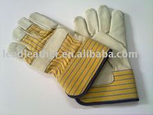 Cowhide grain leather shooting gloves 2012 safety