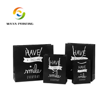 Wholesale custom fashion design high quality black guess paper bag