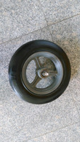 cast iron solid rubber wheels 14x4