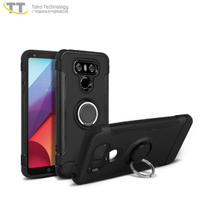 Case with magnet and ring hybrid protector case for lg g6,mobile back cover for lg g6,for lg cell case g6