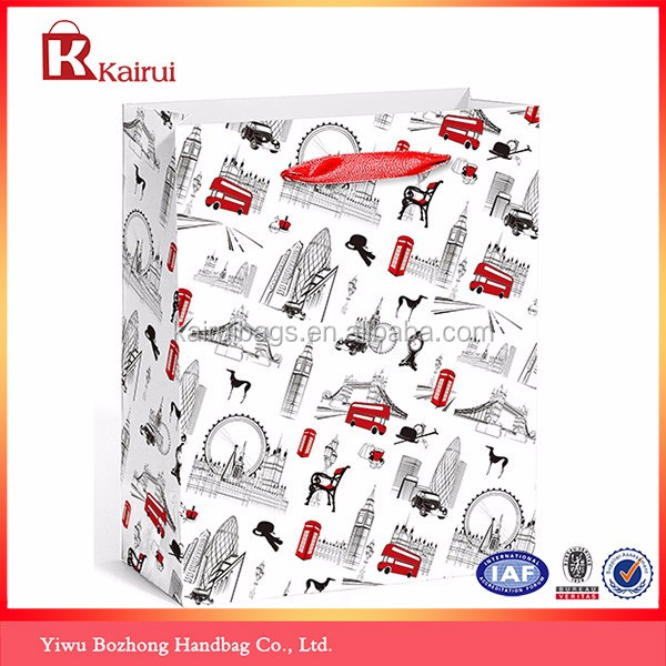 Free Sample Eco-friendly Material Recyclable Art Paper Shopping Bag