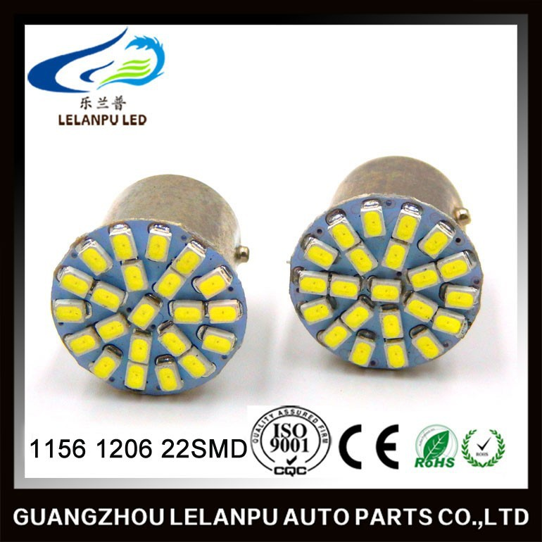 12v Car Led Interior Light 1156 BA15S P21W 1206 22-SMD LED Tail Signal Light Car Light Lamp BLUE Bulb