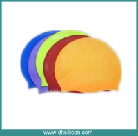 Good quality/Soft silicon swim caps/Hot selling silicone swim cap