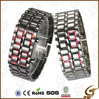 Attractive Alloy Wrist LED Watch men With Flash Light