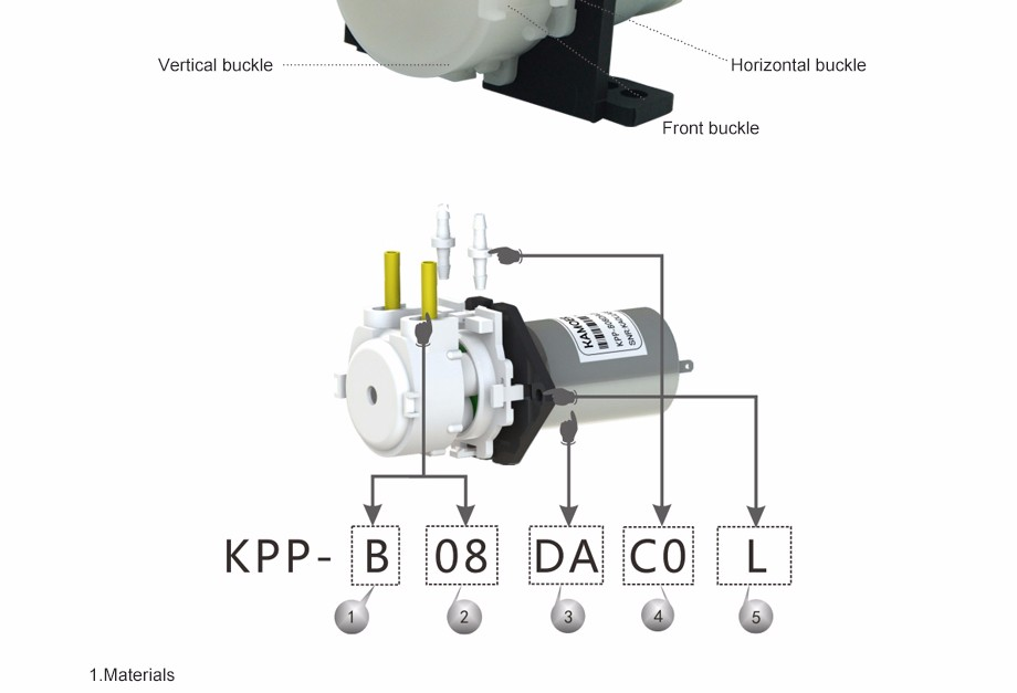Kamoer KPP model chemical dosing pump with 3v/6v/12v/24v dc motor (PharMed BPT tube)
