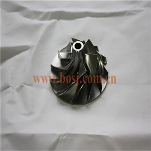 CNC fully machined billet compressor wheel for RHF5