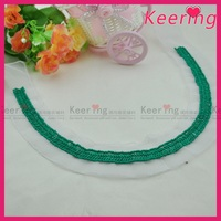 Keering wholesale U shape green beads collar neck designs for ladies suit top WNL-1524