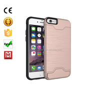 Classic style mobile phone cover case pc brushed tpu hybrid case 2 in 1 cell phone case for Iphone 6