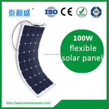 high efficiency and high quality 100W sunpower material semi flexible solar panel