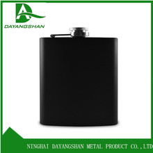 Hip Flask With Soft Surface 6oz 180ml Rubber Painting Black Stainless Flask