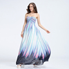 Exquisite print chiffon and beaded big size women maxi dress evening dresses long best lady gown