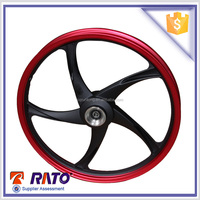A356 material motorcycle alloy wheel, 1.2-17 front wheel,1.4-17 rear wheel