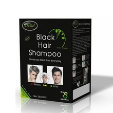 Best quality noni bio dye hair shampoo in black color
