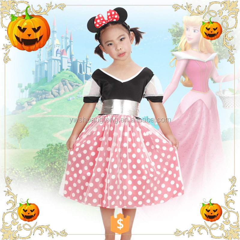 OEM design 2017 Halloween children reasonable price halloween princess party clothes dress