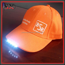 High Quality Fibre Flashing Baseball Cap Custom Embroidered Led Lighted Hat