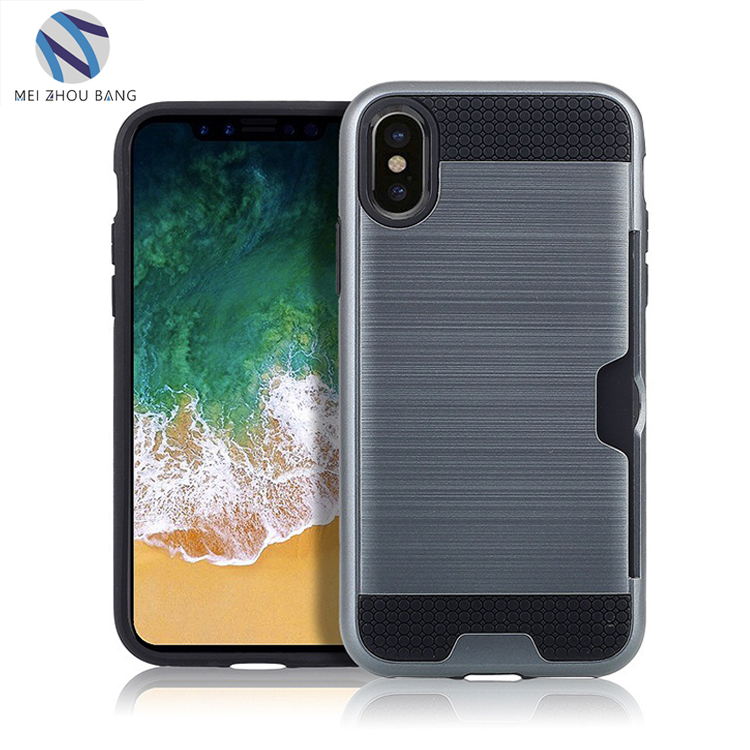 New Brush Anti-knock Armor Case shockproof bumper cell phone cover case For iPhone X