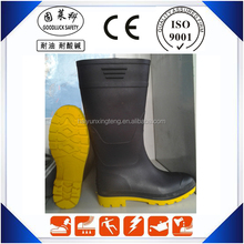 Cheap Black Men Clear PVC Rain Boots