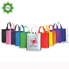 Environmental custom logo pp non woven laminate bag, pembekal fabric non woven bag