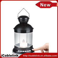 2013 New Arrival Led Lantern Speaker Support USB Card Reader TF Card Candle Lantern Lights Speakers