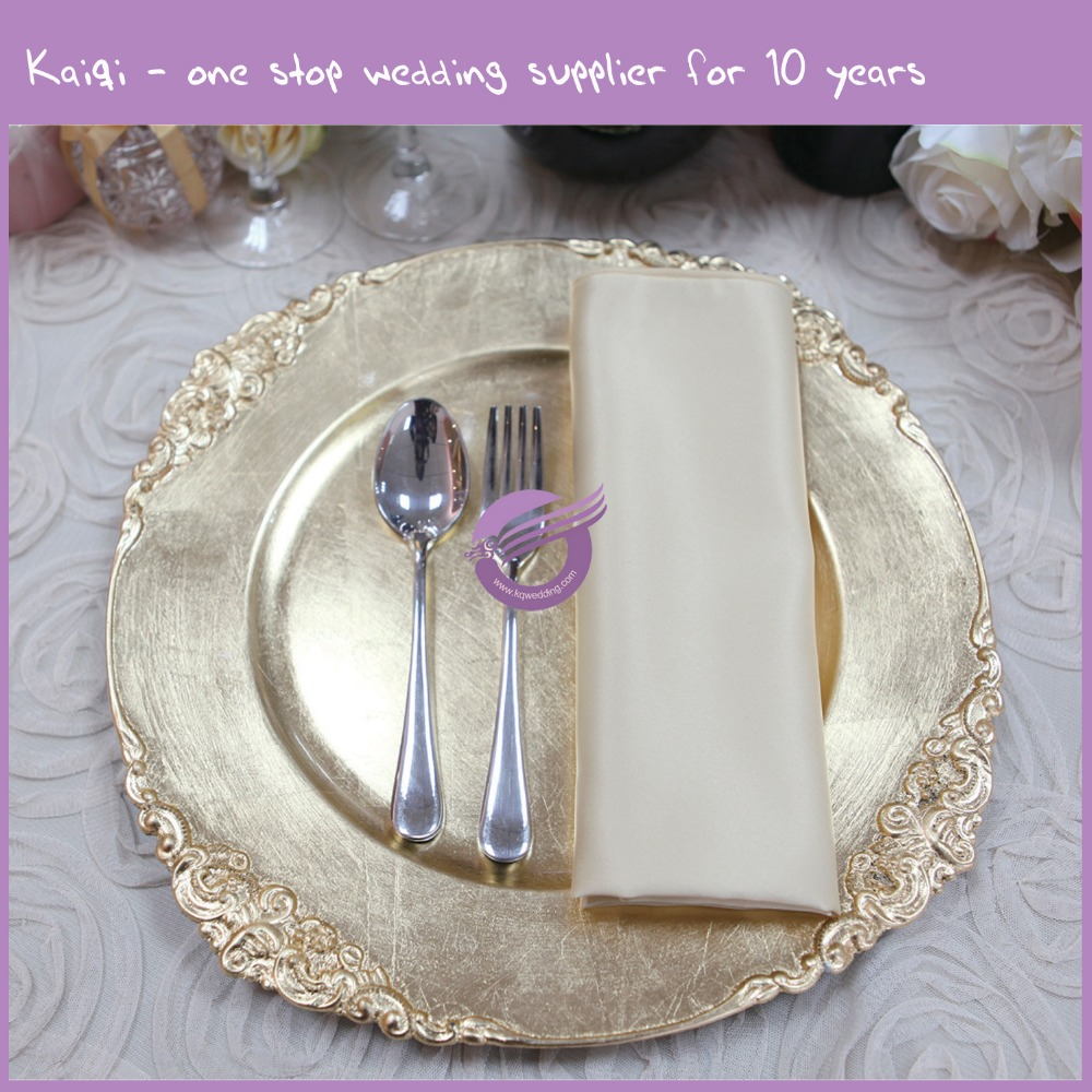 PZ21080 gold wedding hot sell bulk cheap plastic charger plates