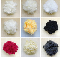 1.2d*38mm pet bottle flakes recycled solid siliconized polyester micro fibre for spinning yarn and for geotextiles