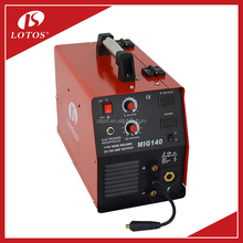 China Factory price Super Quality IGBT DC inverter mig/mma welder 140 welding machine for aluminum and carbon steel