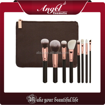 high quality 8 piece custom logo makeup brushes free samples
