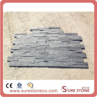 black slate wall panel Decorative stone wall cladding stone