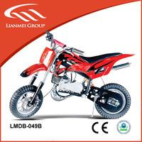 2 stroke 49cc mini moto cross kids gas dirt bikes all sale in the oversea market with fine quality LMDB-049B