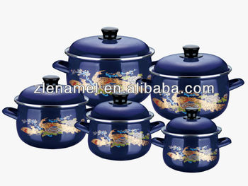 double hollow handle 10pcs enamel cookware