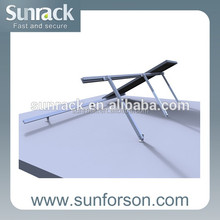 Easy Fixing Flat Roof Solar Panel Adjustable Mounting Systems
