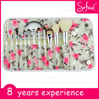 Sofeel 12 pcs new design fashion make up brush professional makeup brush roll
