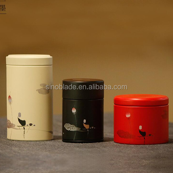 Tea Package Round Tin Can Box