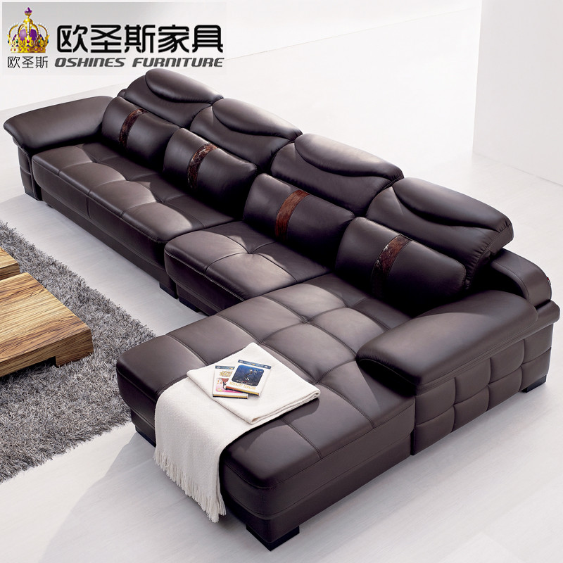 Modern leather corner <strong>sofa</strong>, Modern l shape <strong>sofa</strong>,Foshan leather <strong>sofa</strong> OCS-L29