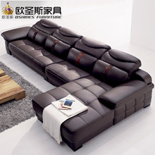 <strong>Modern</strong> leather corner sofa, <strong>Modern</strong> l shape sofa,Foshan leather sofa OCS-L29
