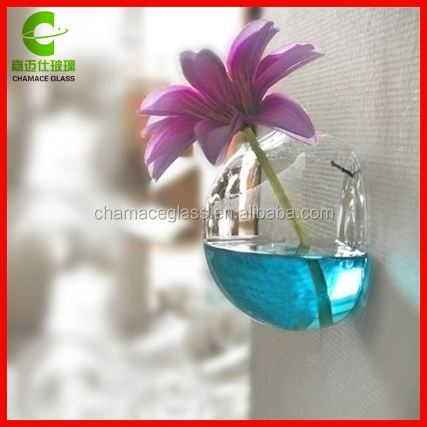 Hot Selling Wall Mounted Crystal Glass Vase Flower Plant Terrarium