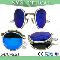 Modern Popular Foldable Retro Round Sunglasses
