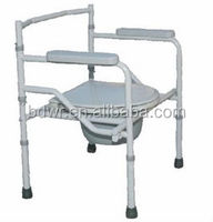 CE & ISO approved accommodate chair/toilet chair with good quality for patients/elder people