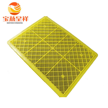 Yellow long plastic trays perforated plastic trays
