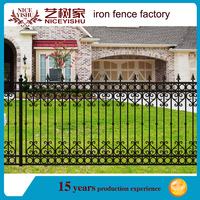 CUSTOMIZED WROUGHT IRON cheap prefab fence panels for GARDEN FENCING MODELS / STEEL GARDEN FENCE DESIGN / GARDEN FENCE