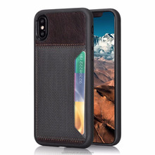 ultra thin PU leather phone case for iphoneX with card slots