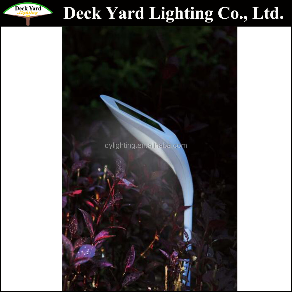 Cheaper New Design Leaf Shaped Led Solar Lawn Lighting Outdoor Solar Garden Decorative Lamps