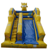 best selling cartoon indoor playground slide for sale, durable PVC inflatable giant slide, indoor slides for children