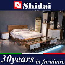 New Model Simple Design Wooden Storage Platform Modern Bed B-814