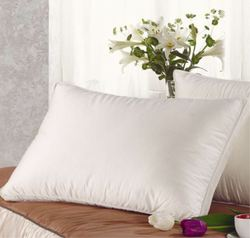 Comfortable cotton sidewall feather pillow