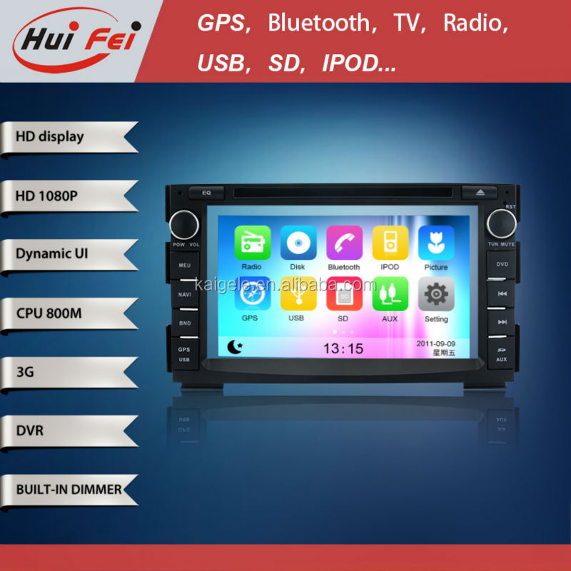 Capacitive multi-touch screen vatop gps for Kia Soul with 3G module,wifi build-in,rear view camera