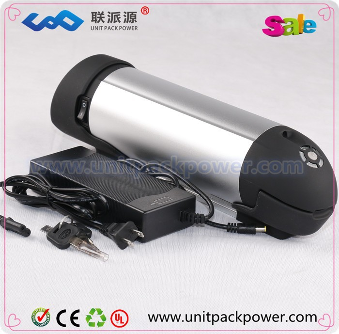 Hot sale electric scooter battery pack 48v bottle battery 48v 10.4ah samsung battery with controller box + charger
