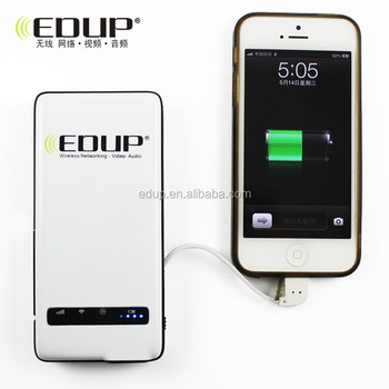 Hotselling EDUP mini wireless router for ipad with battery with 4500mAh power bank