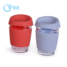 Custom Heat resistance Silicone Rubber Reusable Coffee Cup Lid And Sleeve